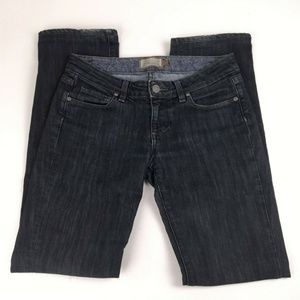 Paige Jeans Size 26 Melrose Black Skinny Low Rise